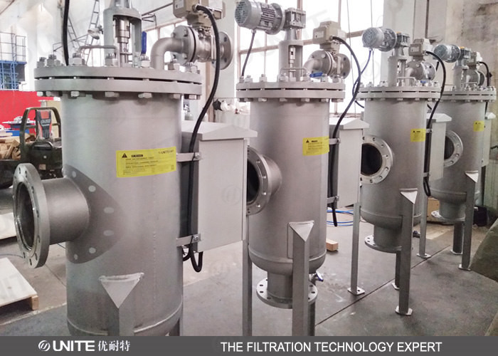 Automatic 100 microns Self Cleaning Filter strainer Industrial Filter Housing carbon steel material